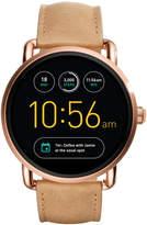 Fossil Q Gen 2 Wander Light Brown Leather Strap Touchscreen Smart Watch 45mm FTW2102