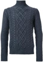 Kent & Curwen chunky cable knit jumper