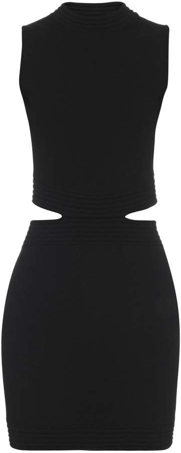 Thierry Mugler Cut-out knitted dress