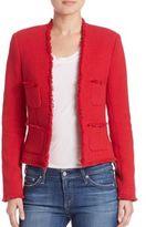 L'Agence Jules Tweed Fringe Jacket