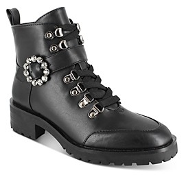 Nanette Lepore Women's Irina Lace Up Buckled Booties (55% off) Comparable value $99