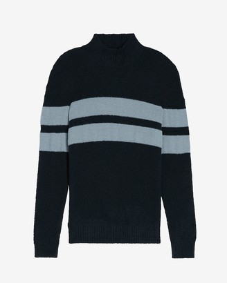 Express Chest Stripe Turtleneck Sweater