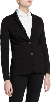 Piazza Sempione Jersey Two-Button Blazer