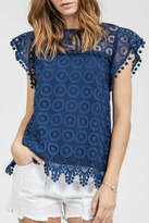 Blu Pepper Pom Pom Top