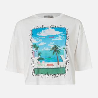 GUESS Women's Short Sleeve RN Beach T-Shirt