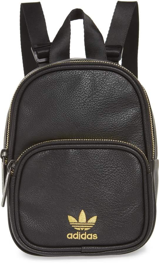 adidas Mini Faux Leather Backpack