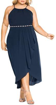Lovestruck City Chic Plus Sleeveless Maxi Dress