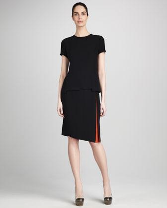 Magaschoni Color Contrast Pencil Skirt