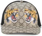 Gucci tigers print GG supreme baseball cap - unisex - Cotton/Polyamide/Polyurethane - L