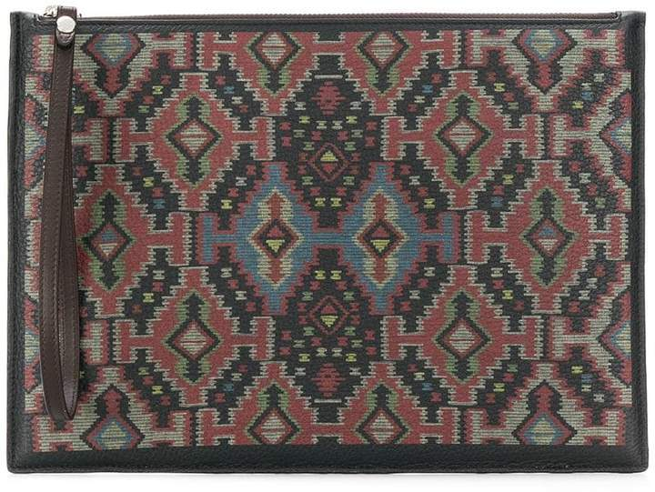 Etro carpet print pouch