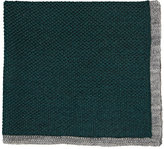Isaia Men's Contrast-Border Pocket Square-GREEN