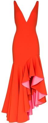 SOLACE London Edana v-neck dress