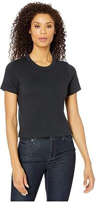 Alternative Heavyweight Recycled Cotton Cropped Pocket Tee (Black) Women's T Shirt