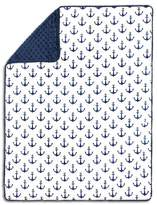 The Peanut Shell The Pompom Baby Blanket - Anchor - Navy