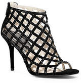 Michael Kors Yvonne Crystal And Suede Cage Pump