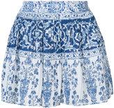 Sea micro pleated porcelain shorts