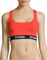 Ivy Park Mesh Back Logo Band Sports Bra