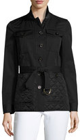Burberry Whitworth Field Jacket w/ Quilted Bottom