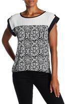 Lily White Printed Split Back Hi-Lo Shirt