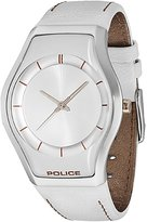 Police Sphere X 12778ms04a 40mm Stainless Steel Case Leather Glass Women's Watch