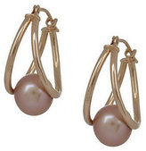 Honora As Is Gold Cultured Freshwater Pearl SplitHoop Earrings, 14K