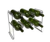 MINDREADER Mind Reader 2-Tier 6-Bottle Stackable Mesh Wine Rack