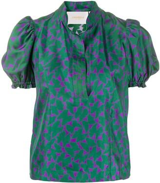 La DoubleJ x Mantero print blouse