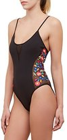 Kenneth Cole Reaction Women's Garden Groove Floral Embroidered Mio One Piece Swimsuit
