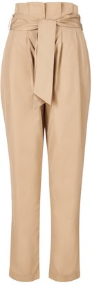 A Line Clothing Bege Tailored High-Waisted Trousers