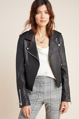 LTH JKT KAS Leather Moto Jacket By in Black Size M