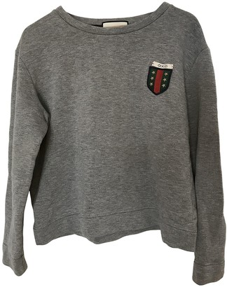 Gucci Grey Cotton Knitwear & Sweatshirts