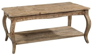 Alaterre Rustic Reclaimed Coffee Table, Driftwood