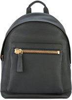 Tom Ford zip detail backpack - men - Calf Leather/Cotton/Polyester/Brass - One Size