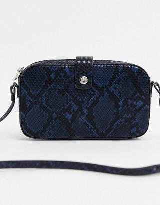 Vero Moda crossbody bag in tonal snake