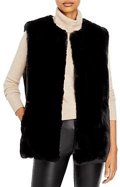 Surell Rex Rabbit Faux Fur Vest
