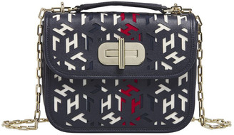 Tommy Hilfiger AW0AW08639_BDS TURNLOCK Flapover Crossbody Bag