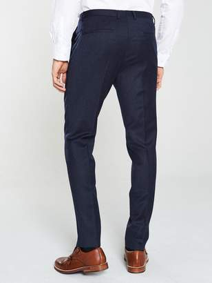 HUGO Hesten Flannel Suit Trousers - Navy