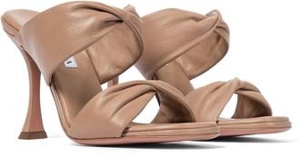 Aquazzura Twist 95 leather sandals