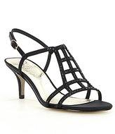 Adrianna Papell Amari Jeweled Satin Sandals