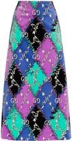 Gucci GG Rhombus Ramage-print skirt