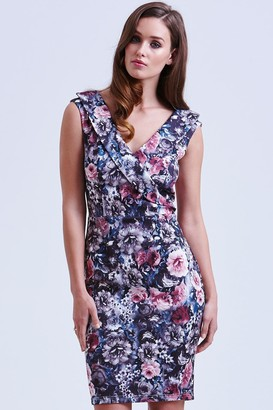 Paper Dolls Floral Cross Over Bardot Dress