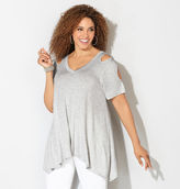 Avenue Cold Shoulder Sharkbite Top