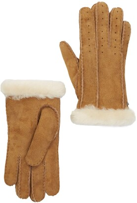 UGG Classic Perforated Genuine Dyed Shearling Gloves