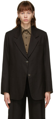 Eftychia Brown Wool Blazer