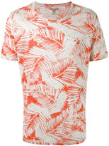 Majestic Filatures leaf print T-shirt - men - Linen/Flax - M