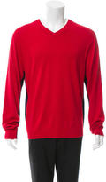 Paul Smith Two-Tone V-Neck Sweater