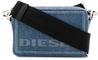 Diesel rectangular denim cross-body bag