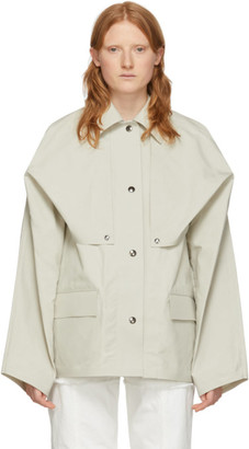 BEIGE Kassl Editions Reversible Cape Jacket