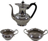 One Kings Lane Vintage English Fluted Coffee Set, C.1870