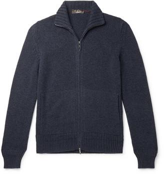 Loro Piana Baby Cashmere Zip-Up Sweater